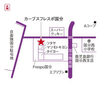 フレスポ国分マップ