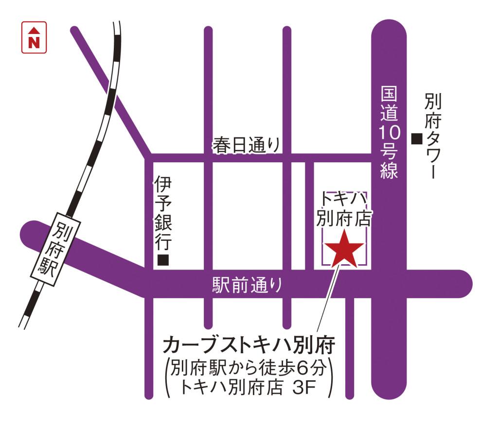 地図(トキハ別府)