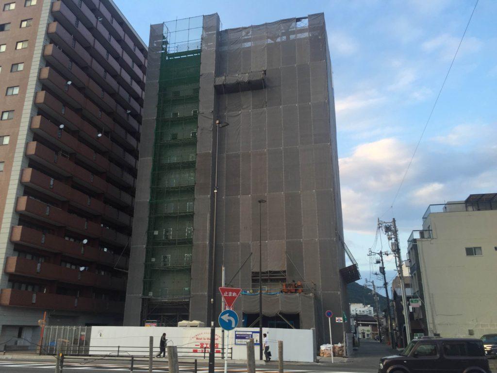 スーパーホテル三原駅前(仮)建設中