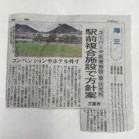 JR三原駅前の私有地計画に経済界が要望のホテルは盛り込まれず